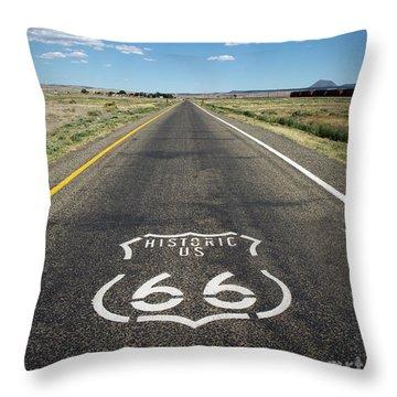 Historica Us Route 66 Arizona Throw Pillow