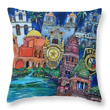 Historical 401s San Antonio Throw Pillow