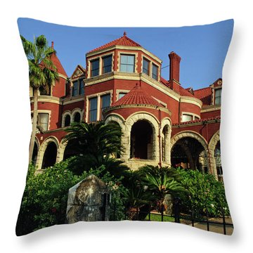 Throw Pillow featuring the photograph Historical Galveston Mansion by Tikvah's Hope