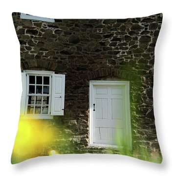 Throw Pillow featuring the photograph Historical House In Washington Crossing State Park by Emanuel Tanjala