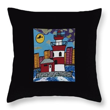 Historical Michigan Lighthouse Throw Pillow