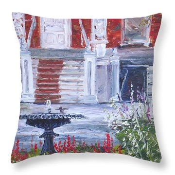 Historical Society Garden Throw Pillow