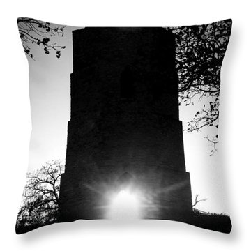 Throw Pillow featuring the photograph Historical Water Tower At Sunset by Viviana  Nadowski