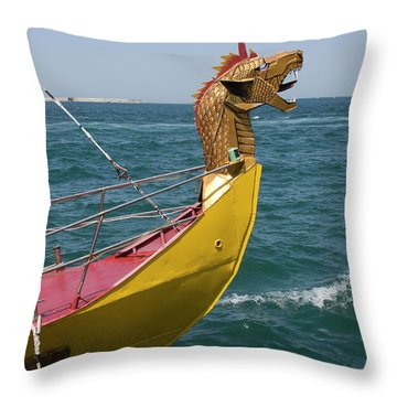 Historical Yacht Throw Pillow