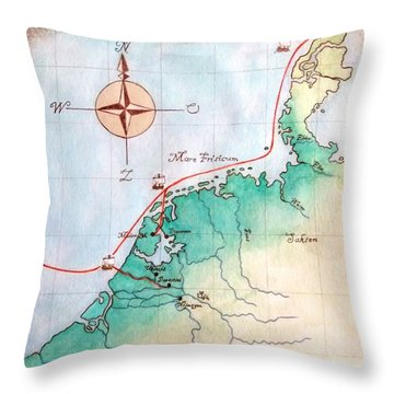 Magna Frisia- Frisian Kingdom Throw Pillow by Annemeet Hasidi- van der Leij
