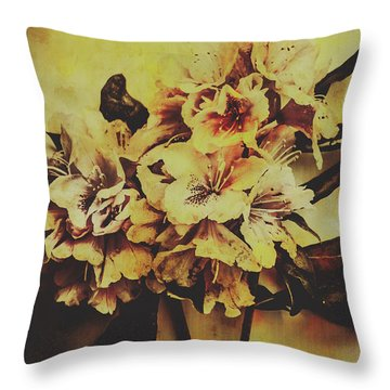 Rhododendron Throw Pillows