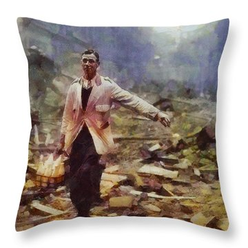 History In Color. Spirit Of The Blitz, Wwii Throw Pillow