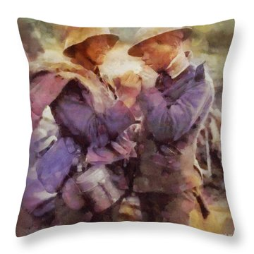 History In Color. Wwi Truce In The Trenches Throw Pillow