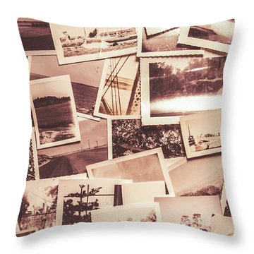 History In Still Photographs Throw Pillow