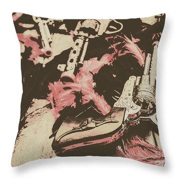History In Western Rivalry Throw Pillow