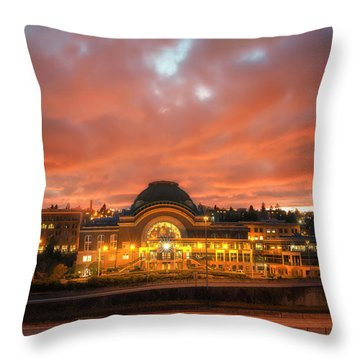 History On Fire Throw Pillow