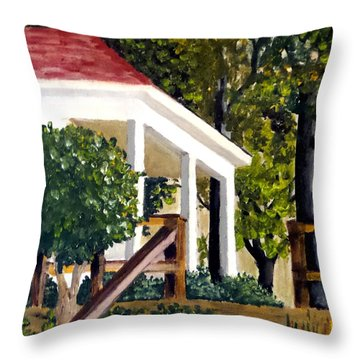 Throw Pillow featuring the painting History Still Stands by Jim Phillips