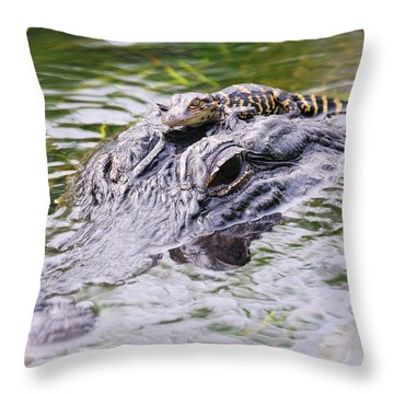 Hitchin' A Ride. Throw Pillow