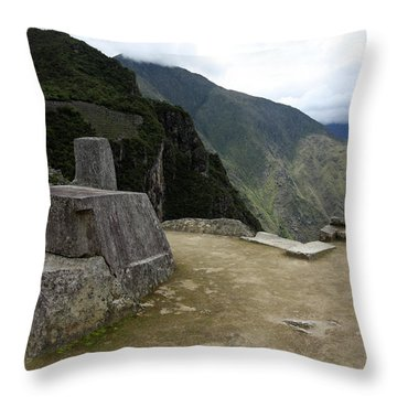 Throw Pillow featuring the photograph Hitching Post Of The Sun by Aidan Moran