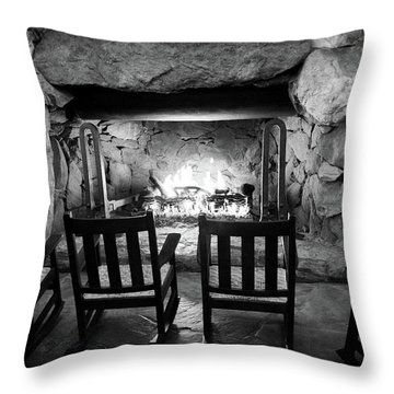 Winter Warmth In Black And White Throw Pillow by Karen Wiles