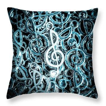 Hitting Key Harmonics  Throw Pillow