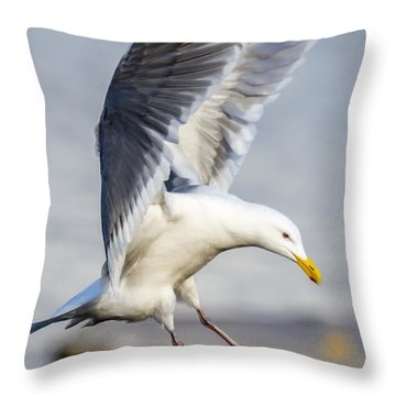 Hitting The Brakes Throw Pillow