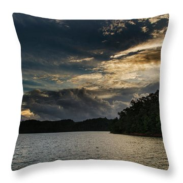 Hiwassee Lake From Hanging Dog Recreation Area Throw Pillow