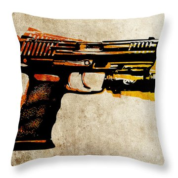 Guns Throw Pillows