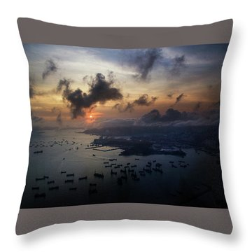 HK Throw Pillow