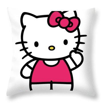 Hkitty Throw Pillow