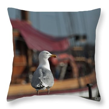 Hmm... Sooo... East Or West Today... Throw Pillow by Nina Stavlund