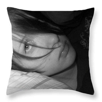 Hmmm So Bored Throw Pillow