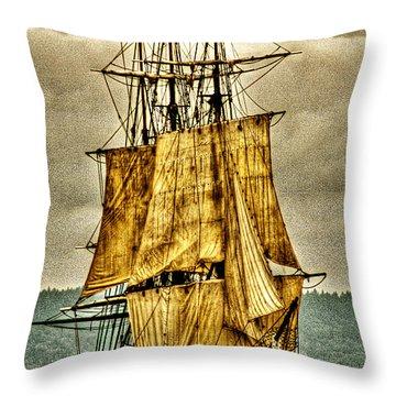 Hms Bounty Throw Pillow by David Patterson