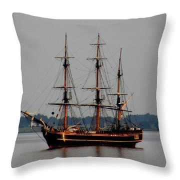 Hms Bounty  Throw Pillow