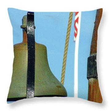 Hms Bounty Ships Bell Throw Pillow