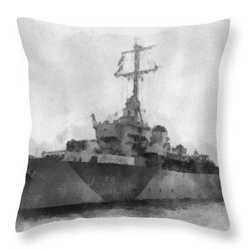 Hms Cockatrice Wwii Throw Pillow