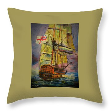 Hms Hero Throw Pillow