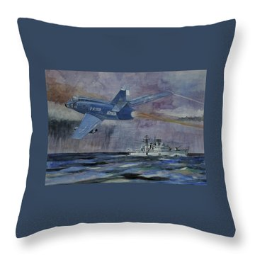 Hms Sheffield Throw Pillow