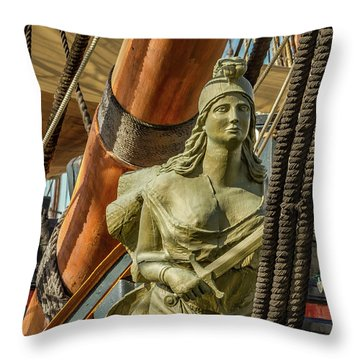 Throw Pillow featuring the photograph Hms Surprise by Bill Gallagher