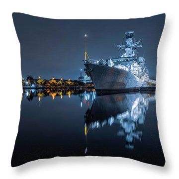 Hms Westminster Throw Pillow