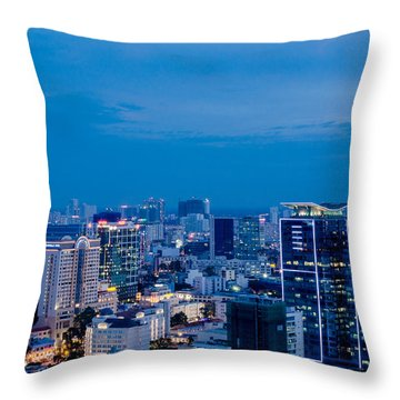 Ho Chi Minh City Night Throw Pillow
