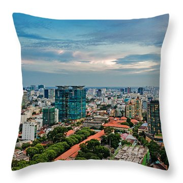 Ho Chi Minh City Throw Pillow