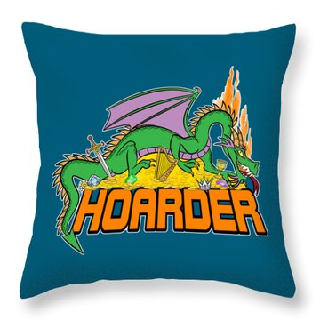 Hoarder Throw Pillow by J L Meadows