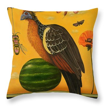 Hoatzin 2 Throw Pillow