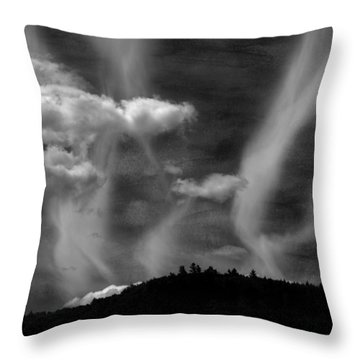 Throw Pillow featuring the photograph Hobart Hill Monochrome by Wayne King