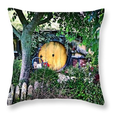 Hobbit Bungalow Throw Pillow