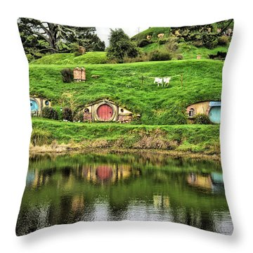 Hobbit By The Lake Throw Pillow