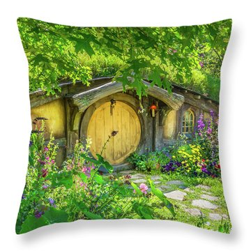 Hobbit Cottage Throw Pillow