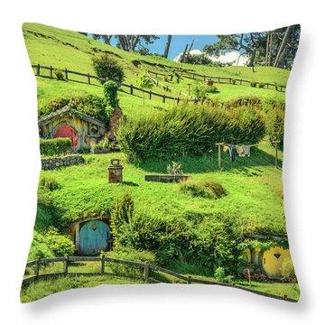 Hobbit Hills Throw Pillow