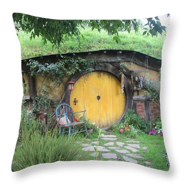 Hobbit Hole Throw Pillow