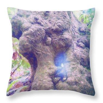 Throw Pillow featuring the photograph Hobbit House by Jean OKeeffe Macro Abundance Art