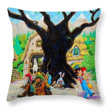 Hobbit Land Throw Pillow