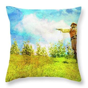 Hobbit Scarecrow Throw Pillow