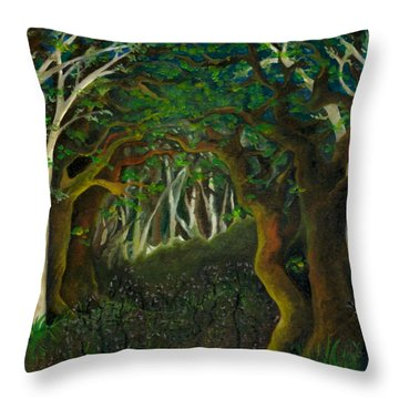 Hobbit Woods Throw Pillow