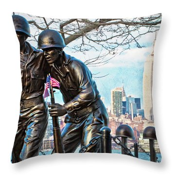Hoboken War Memorial Throw Pillow